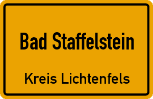 Ortschild Bad Staffelstein